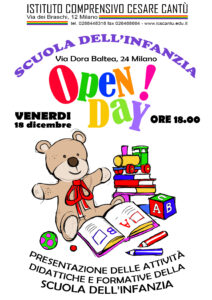 Locandina Open Day 2020 Scuola infanzia Dora Baltea