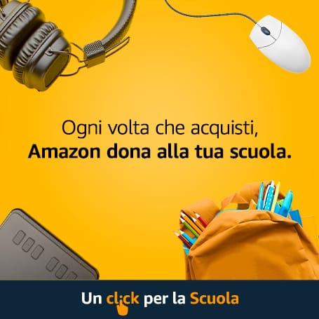 banner raccolta punti Amazon Un Click per la Scuola